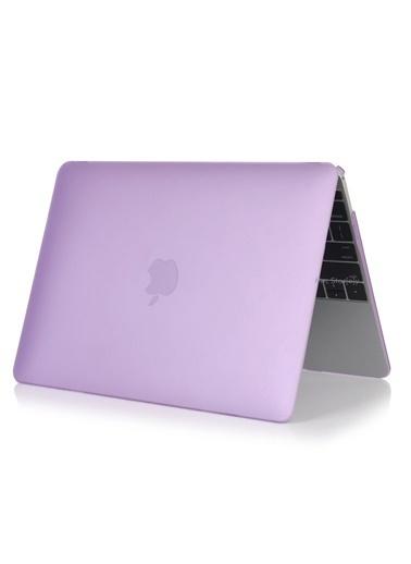 """Mcstorey MacBook Pro A1278 13.3"""" Kılıf Kapak Koruyucu Ruberized Hard Incase Mat Lila"""